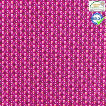 Coton fuchsia motif miluz violet