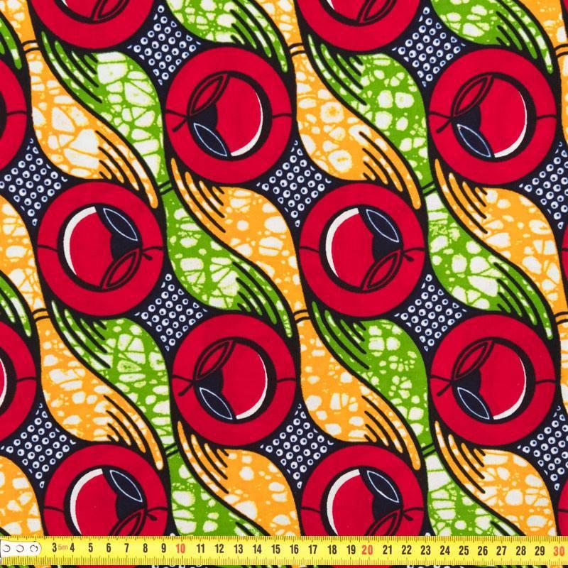 wax tissu africain rouge vert et orange 261. Black Bedroom Furniture Sets. Home Design Ideas