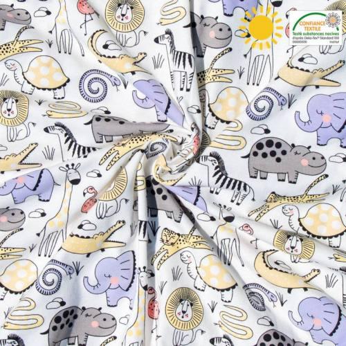 Jersey magique motif animaux de la savane