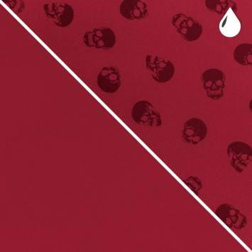 Tissu softshell magique rouge motif tête de mort