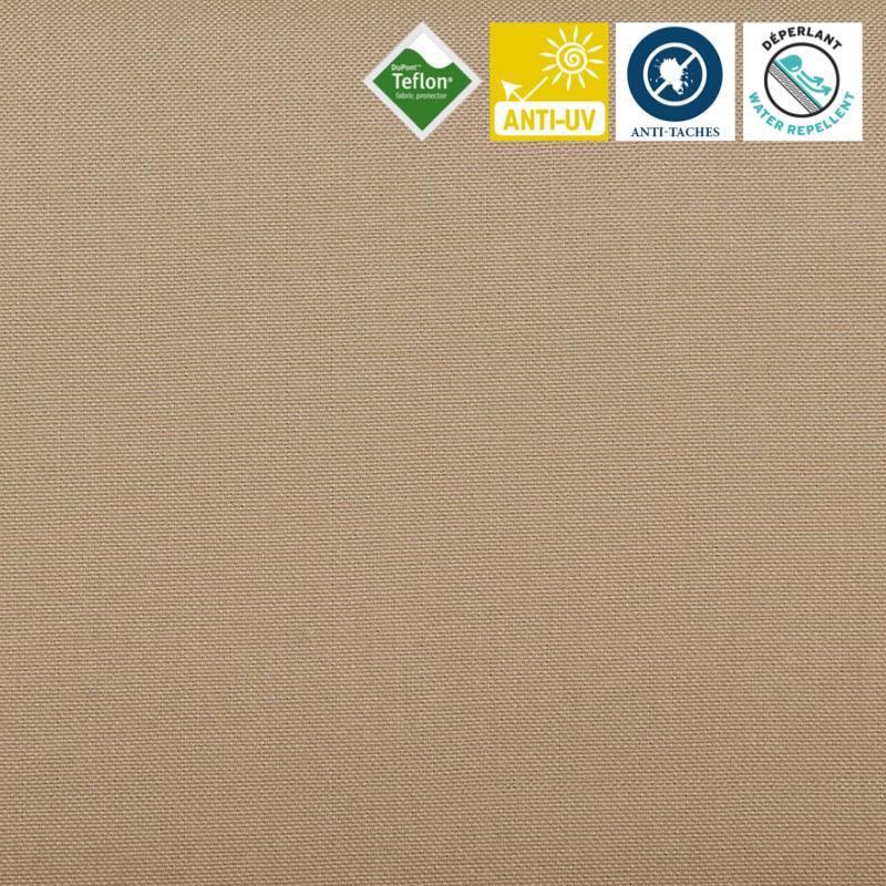 toile ext rieure t flon grande largeur beige pas cher tissus price. Black Bedroom Furniture Sets. Home Design Ideas
