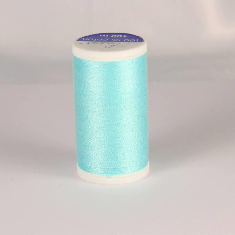 Fil coton laser bleu turquoise 3205