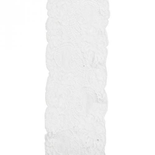 Dentelle nylon blanche 100 mm