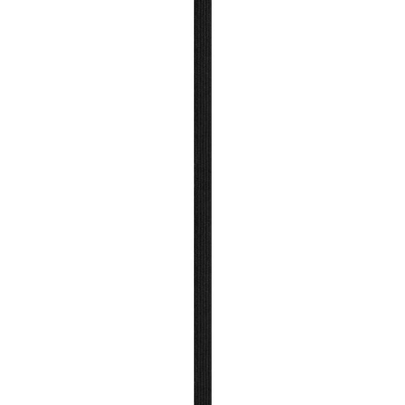 Rouleau 50m d'élastique tresse plate 8,5mm noir