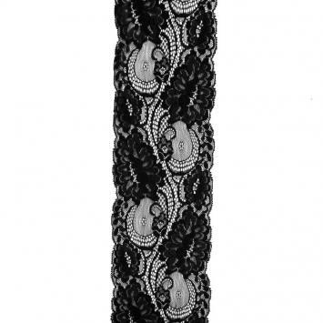 Dentelle nylon noire 100 mm