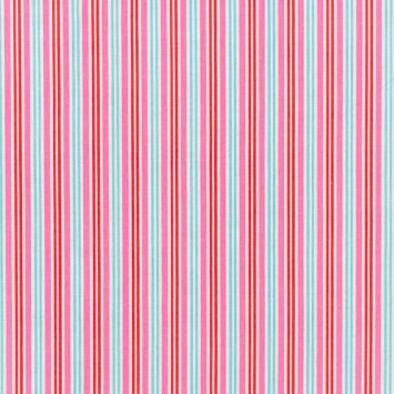 Coton à rayures roses, bleues et rouges