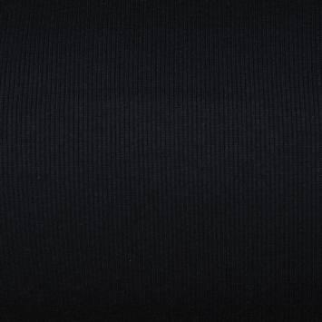 Tissu tubulaire bord-côte maille noir