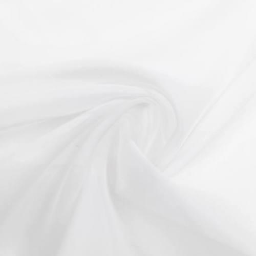Voilage blanc transparent