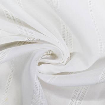 Voilage blanc trait perforé verticale 60cm