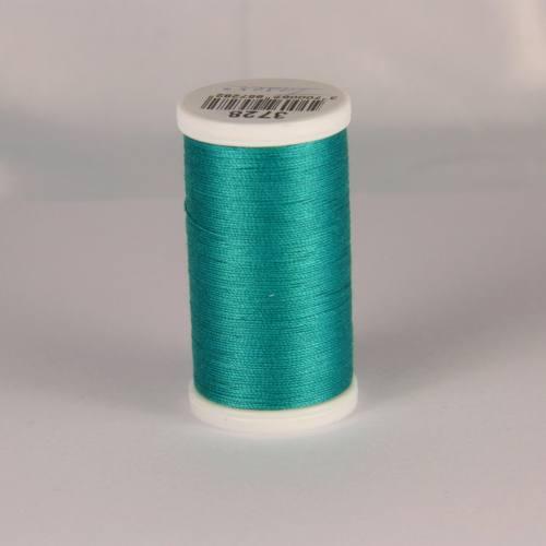 Fil coton laser bleu turquoise 3728
