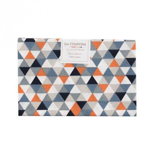Coupon 40x60 cm coton orange trimix