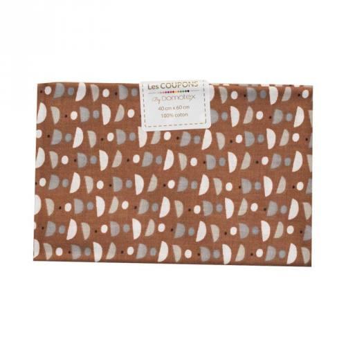 Coupon 40x60 cm coton noisette cuppa