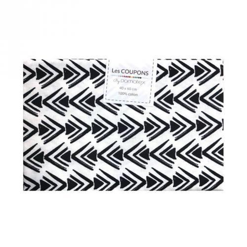 Coupon 40x60 cm coton noir cheko