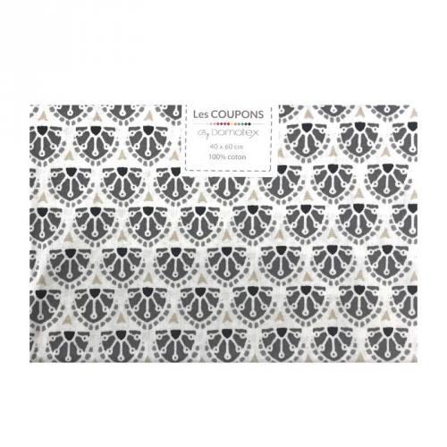 Coupon 40x60 cm coton gris manco