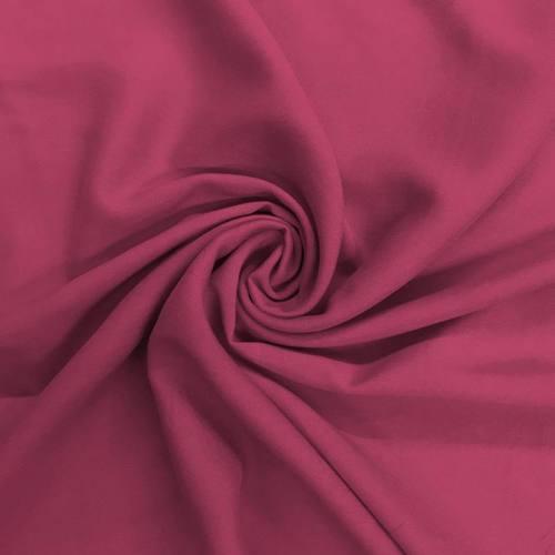 Tissu viscose uni lie de vin
