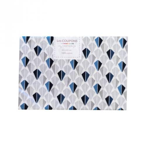 Coupon 40x60 cm coton bleu odeca