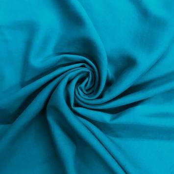 Tissu viscose uni turquoise