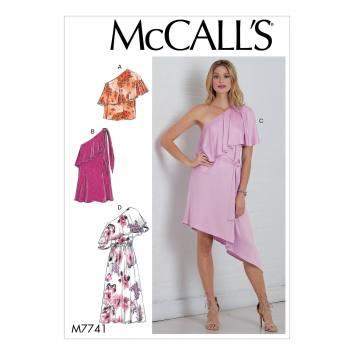Patron McCall's M7741 : Haut, robes et ceinture 34-42