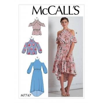 Patron McCall's M77447 : Haut et Robes 42-50