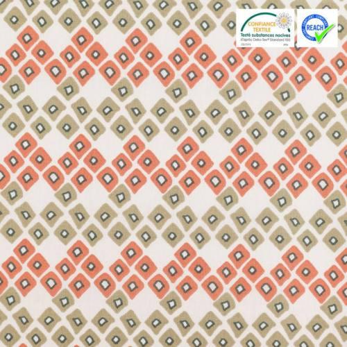 Coton écru motif triangle dozali