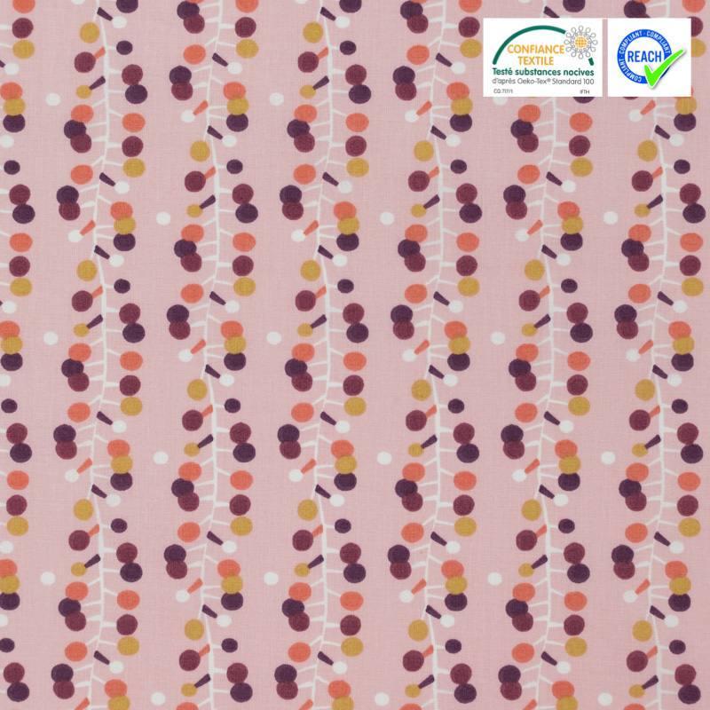 Coton rose motif bulodi