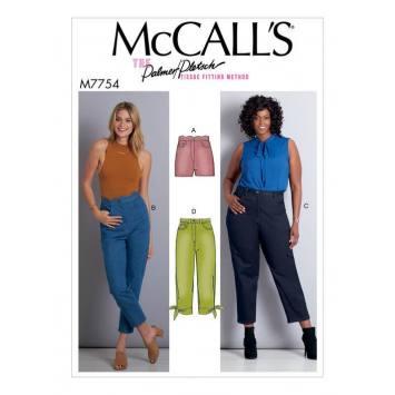 Patron McCall's M7754 : Short et pantalon pour femme Taille unique