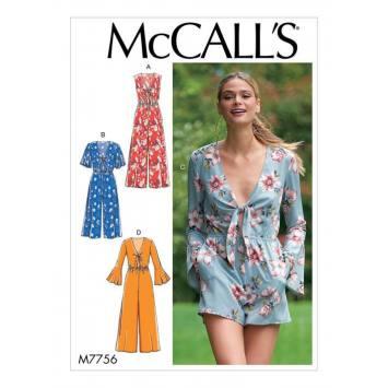 Patron McCall's M7756 : Combinaison pour femme 34-42