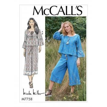 Patron McCall's M7758 : Haut et pantalon 44-52