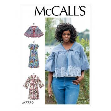 Patron McCall's M7759 : Blouses 44-52