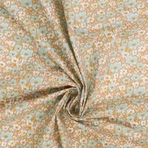 Coton gris motif fleur kalmia