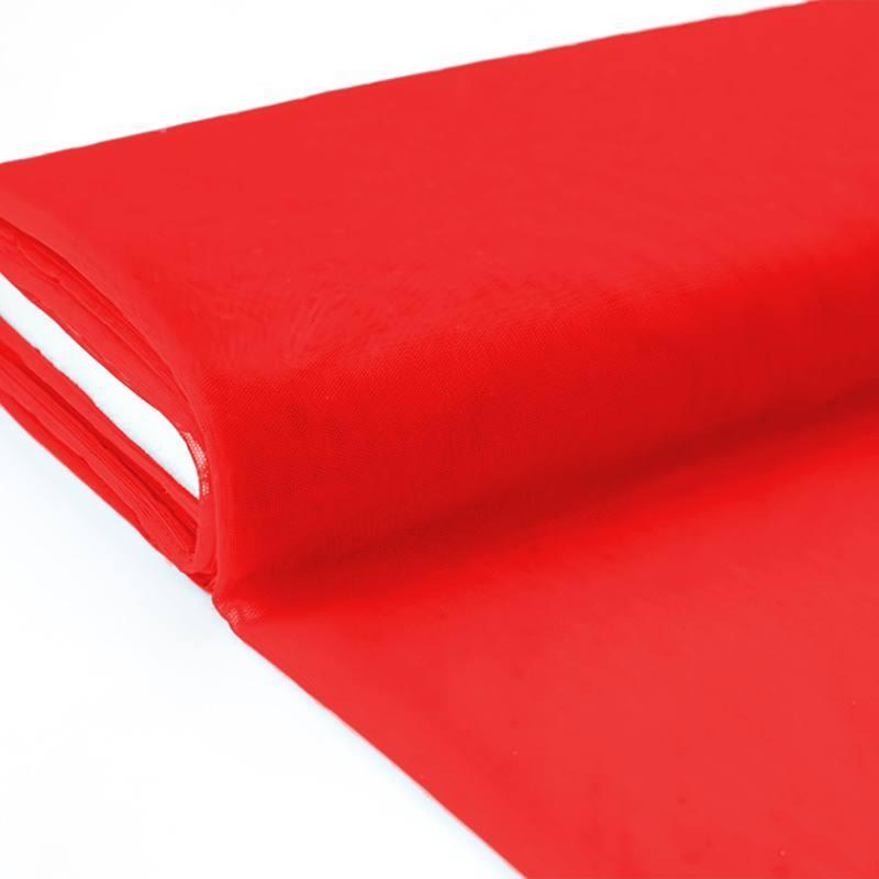 Plaquette 25m Tulle déco rouge grande largeur