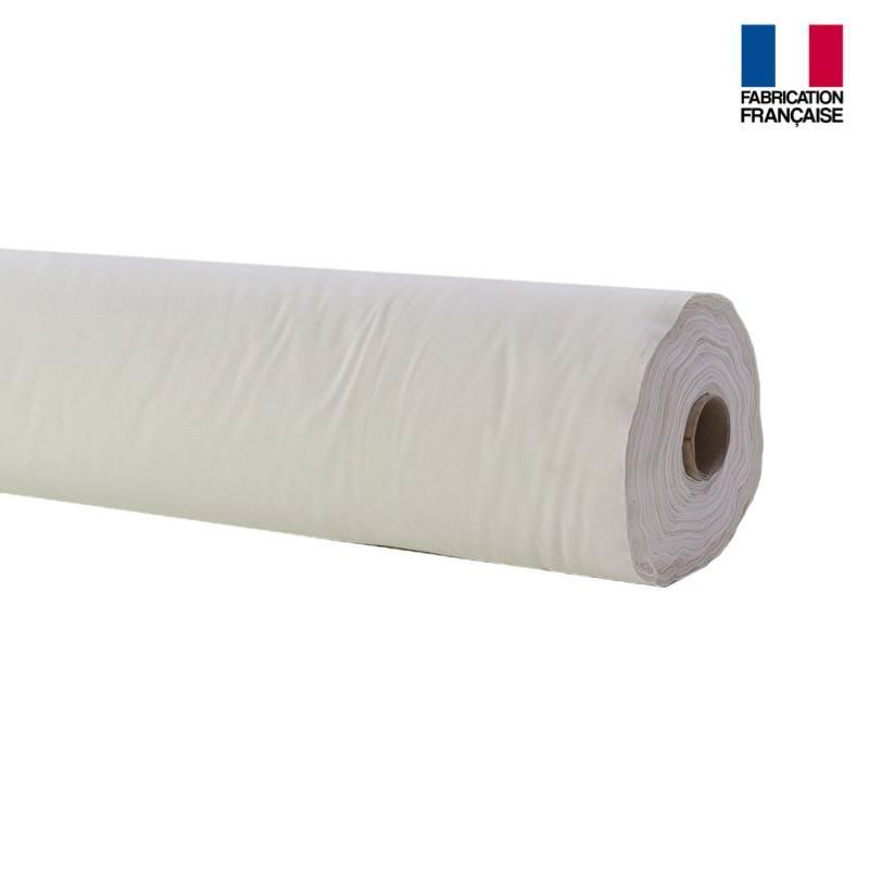 Rouleau 35m Toile coton ignifugée M1 blanche
