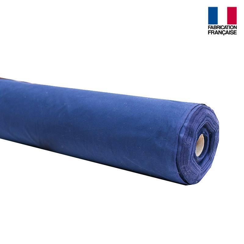 Rouleau 35m Toile coton ignifugé M1 bleu