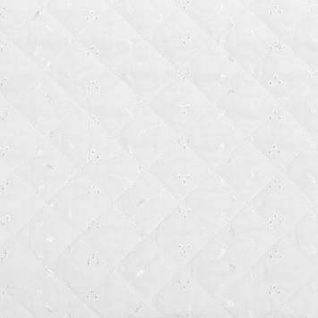 Tissu matelassé blanc borderie anglaise