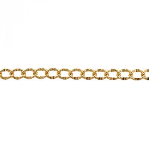 Chaine aluminium or 1,3cm