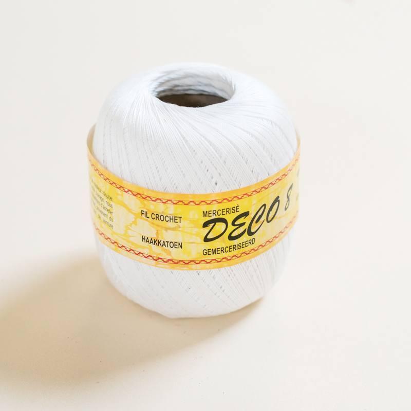 Fil à crocheter 100g blanc