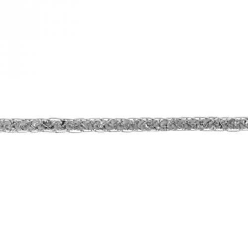 Galon métal pailleté argenté 12 mm
