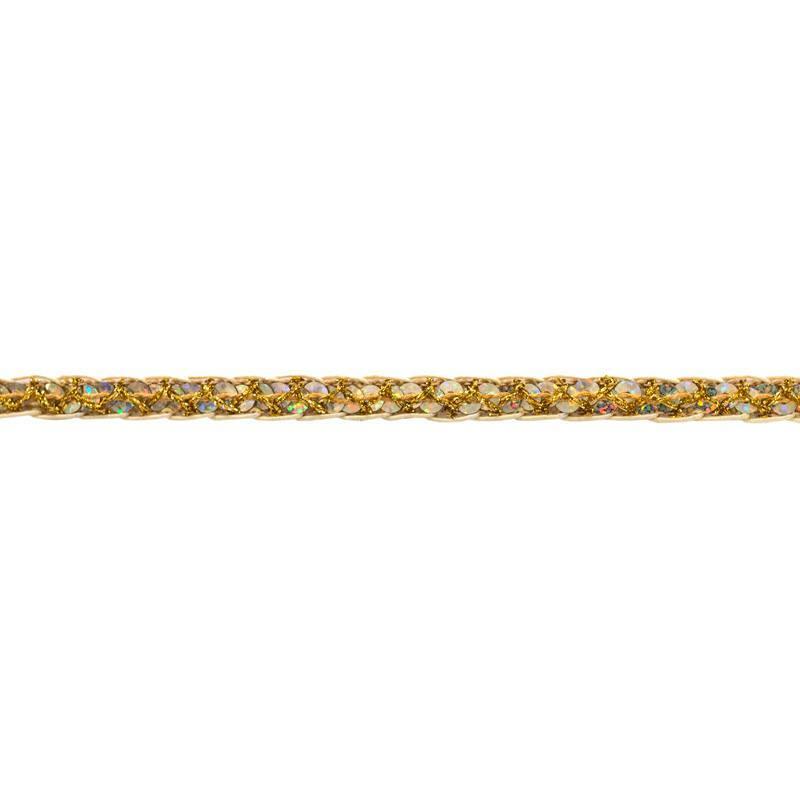 Galon métal pailleté dorè 12 mm