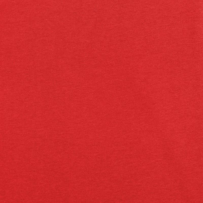 Tissu molleton uni rouge