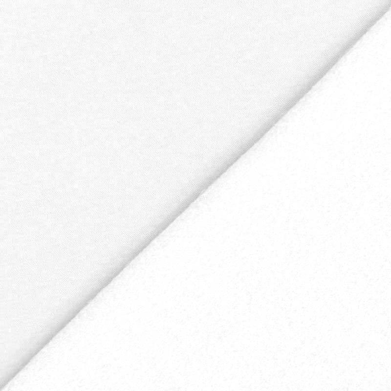 Tissu molleton uni blanc