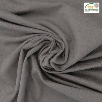 Jersey bambou Oeko-tex gris