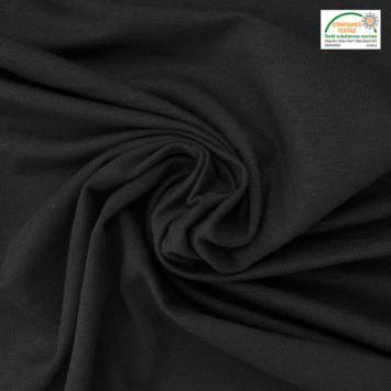 Jersey bambou Oeko-tex noir
