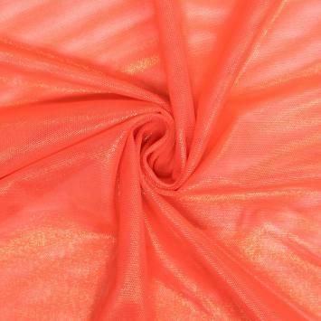 Résille extensible orange lurex