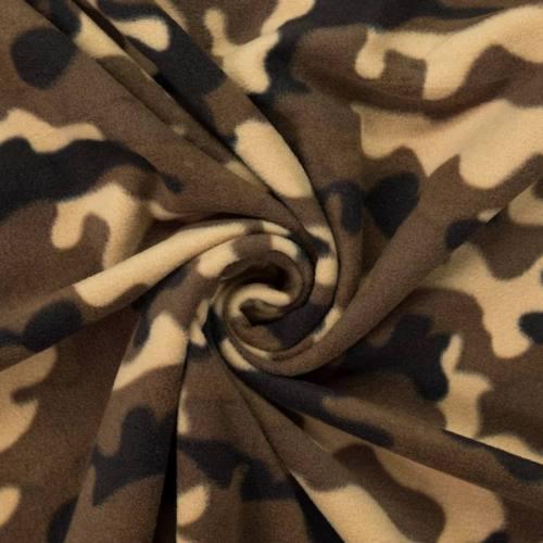 Polaire motif camouflage marron