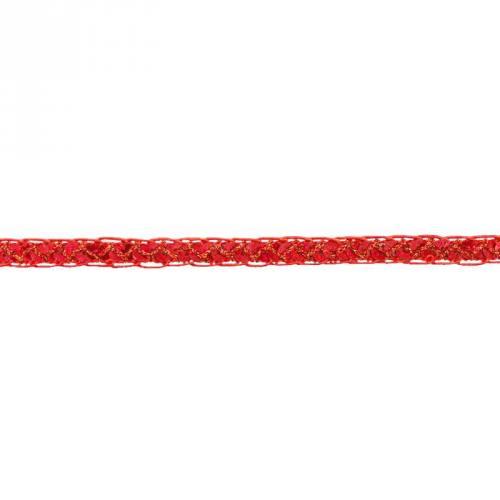 Galon métal pailleté rouge 12 mm