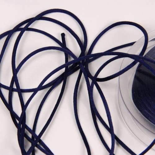 Cordon queue de rat bleu marine