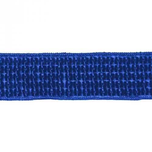 Galon paillettes carrées bleu roi