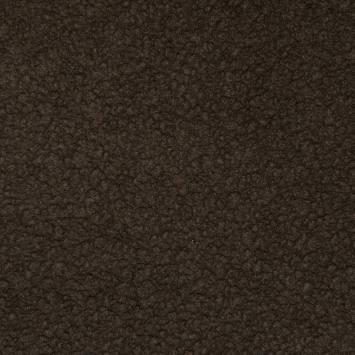 Tissu brun effet peau lainée