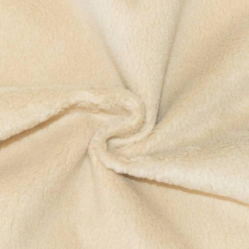 Tissu beige effet peau lainée