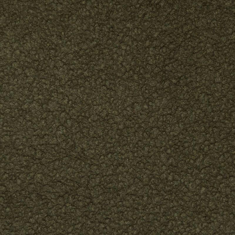Tissu lainage effet bouclette vert militaire